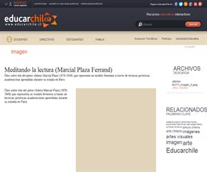 Meditando la lectura (Marcial Plaza Ferrand) (Educarchile)