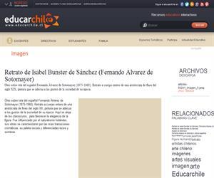 Retrato de Isabel Bunster de Sánchez (Fernando Álvarez de <b>...</b> (Educarchile)