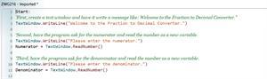 Introducción a Small Basic - creación de una fracción a Decimal convertidor