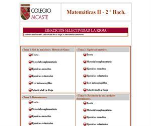 Matemáticas II - 2º Bachillerato (Colegio Alcaste)