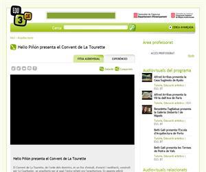 Helio Piñón presenta el Convent de La Tourette  (Edu3.cat)