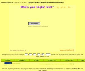 Test para conocer el nivel de inglés que tengo