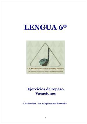 Actividades de repaso para vacaciones de Lengua (6º de Primaria). CEIP Arturo Dúo