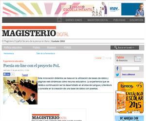 Recurso didáctico. Poesía on-line. (PoL). Lengua y Literatura.  Magisnet. El Magisterio español.