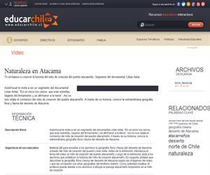 Naturaleza en Atacama (Educarchile)