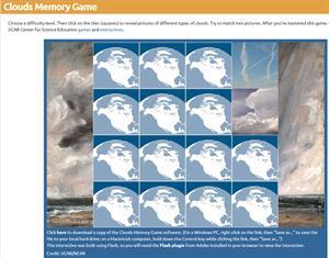 Clouds memory game