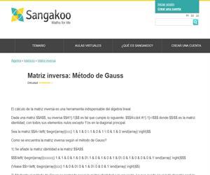 Matriz inversa: Método de Gauss