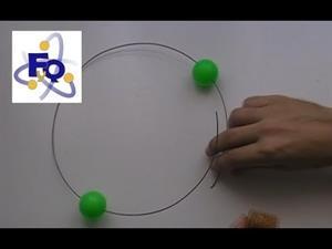 Experimentos caseros de Física: Fuerza centrífuga con dos bolas