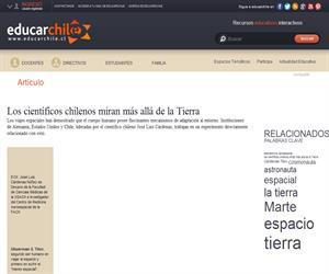 Los científicos chilenos miran más allá de la Tierra (Educarchile)