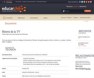 Historia de la TV (Educarchile)