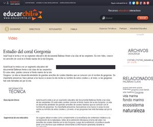 Estudio del coral Gorgonia (Educarchile)