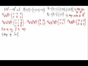 Aplicaciones lineales - Imf