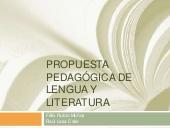 Propuesta pedagógica de lengua y literatura