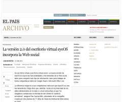 La versión 2.0 del escritorio virtual eyeOS incorpora la Web social · ELPAÍS.com