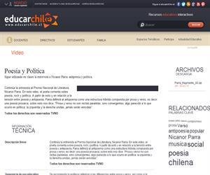 Poesía y Política (Educarchile)