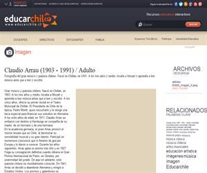 Claudio Arrau (1903 - 1991) / Adulto (Educarchile)