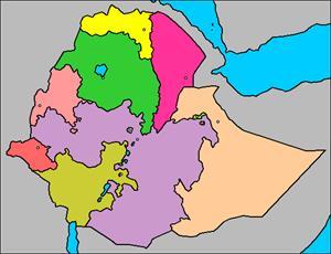 Mapa interactivo de Etiopía: regiones y capitales (luventicus.org)