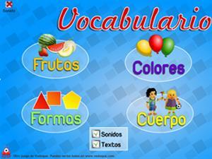 Juego infantil de Vocabulario