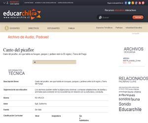 Canto del picaflor (Educarchile)