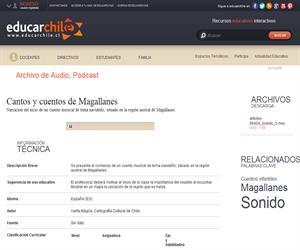 Cantos y cuentos de Magallanes (Educarchile)