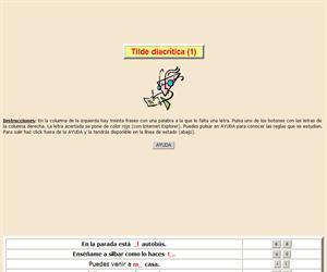 Uso de los acentos: Tilde diacrítica (I). Ortografía interactiva