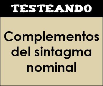Complementos del sintagma nominal. 2º ESO - Lengua (Testeando)
