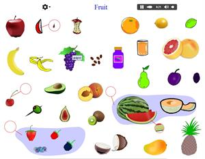Vocabulary of fruits (languageguide.org)