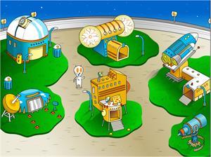 Juegos de los mundos (Nivel 3). La estación espacial