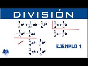 División de polinomios con fracciones. Ejemplo 1