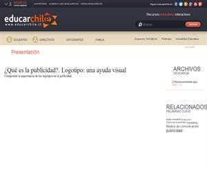 ¿Qué es la publicidad?. Logotipo: una ayuda visual (Educarchile)