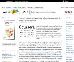 Coursera y la enseñanza en línea: ¿Llegan las economías de escala a la Universidad? | Nada Es Gratis
