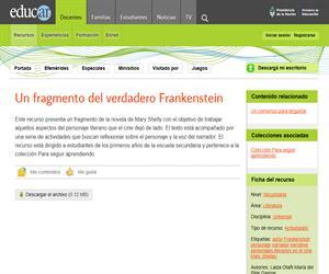 Un fragmento del verdadero Frankenstein