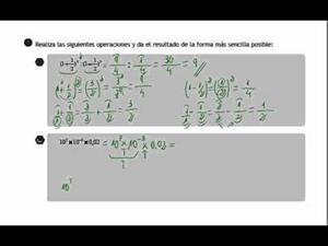 Destrezas p2 - Operaciones con fracciones, decimales y potencias