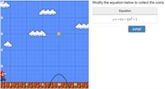 Super Mario Quadratics. Ecuaciones y parábolas.