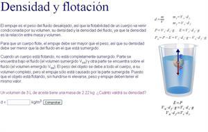 Principio de Arquímedes: densidad y flotación