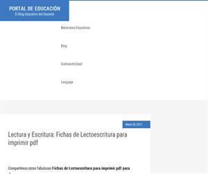 Lectura y Escritura: Fichas de Lectoescritura para imprimir pdf