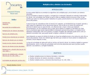 Multiplicación y división con decimales (Descartes)