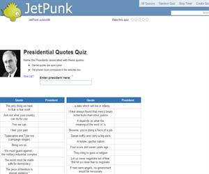 Presidential Quotes Quiz