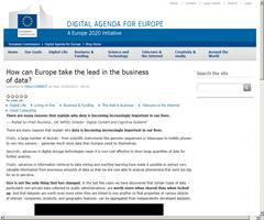 How can Europe take the lead in the business of data?