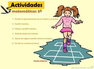 Los Números: Actividades interactivas para 5º de Primaria