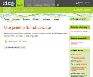 Unas proteínas llamadas enzimas