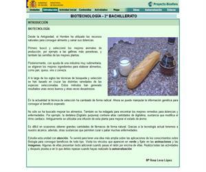 Biotecnología: unidad didáctica de Biología de 2º de Bachillerato (proyecto Biosfera)