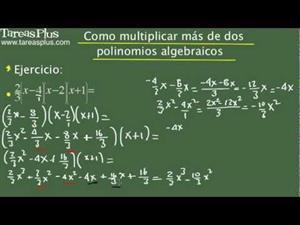 Cómo multiplicar más de dos polinomios algebraicos. Problema 9 de 15 (Tareas Plus)