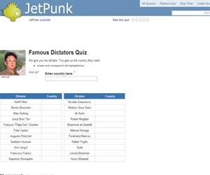 Famous Dictators Quiz