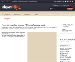 Combate naval de Iquique (Thomas Somerscales) (Educarchile)