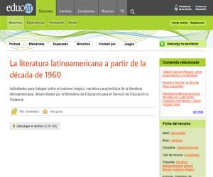 La literatura latinoamericana a partir de la década de 1960