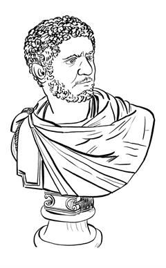 Caracalla (lámina coloreable)