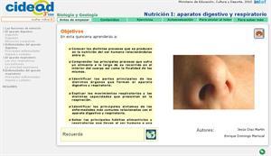 Nutrición I: aparatos digestivos y respiratorios (cidead)