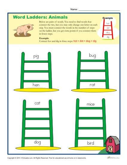 Animal Word Ladders