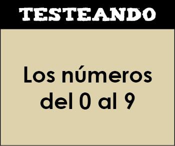 Los números del 0 al 9. 1º Primaria - Matemáticas (Testeando)